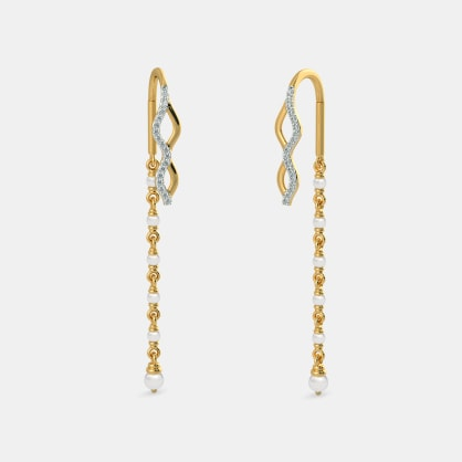 The Wave Link Sui Dhaga Earrings