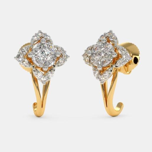The Tyara J Hoop Earrings