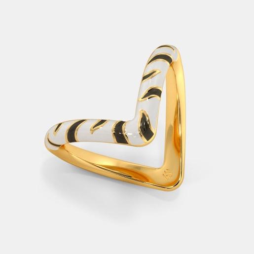 The Zebra Chevron Ring