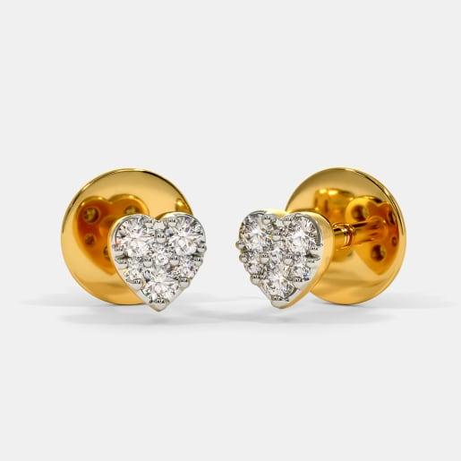 The Twinkle Heart Stud Earrings