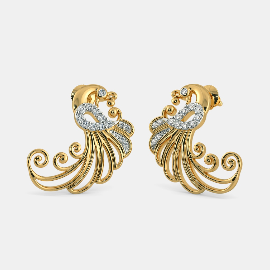 The Swaying Feather Earrings