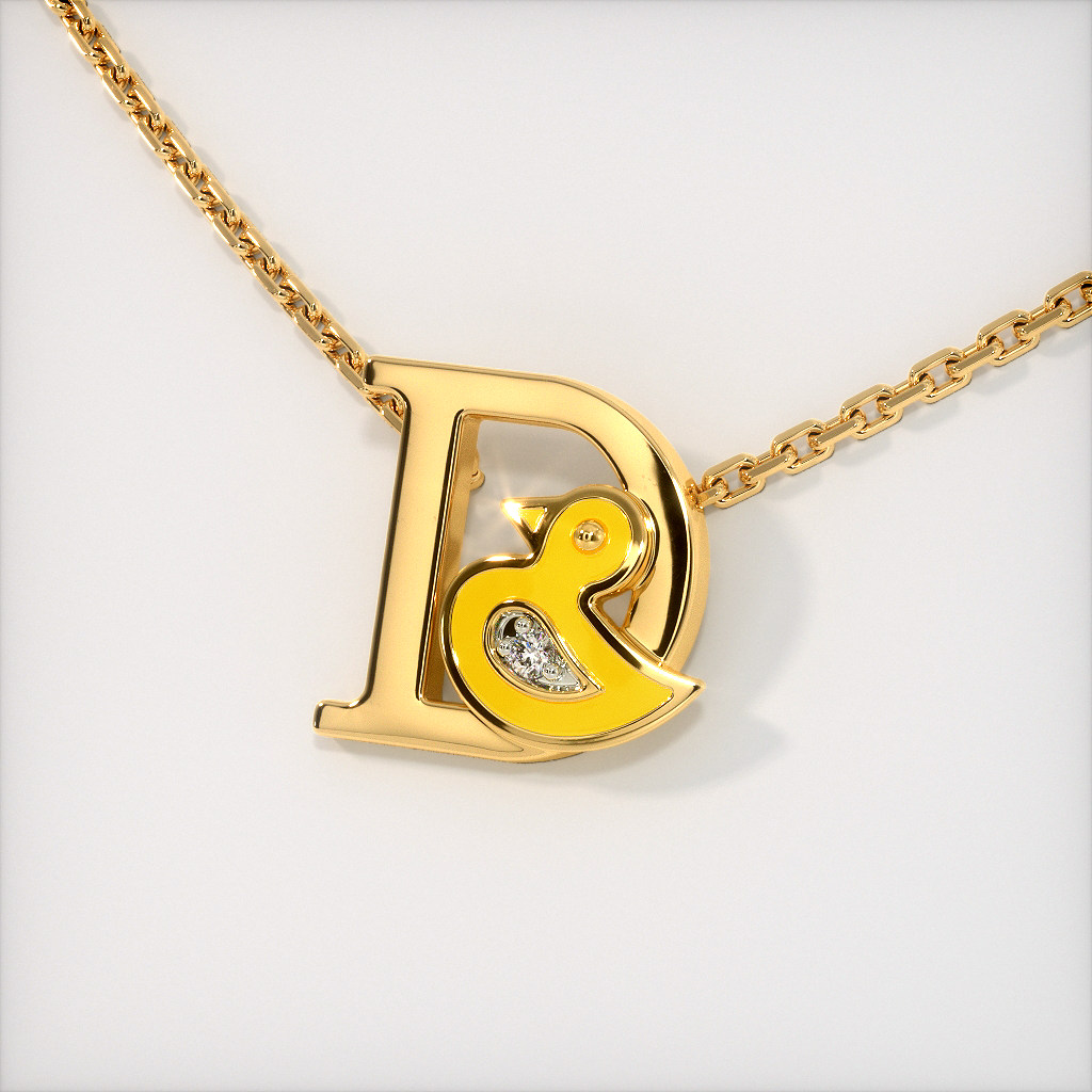 The D for Duck Necklace for Kids