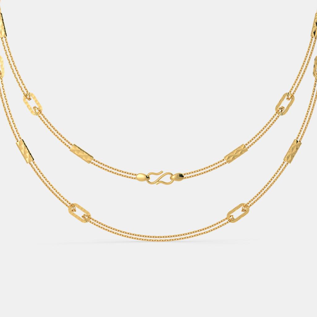 b06ea613056 The Aangi Gold Chain | BlueStone.com