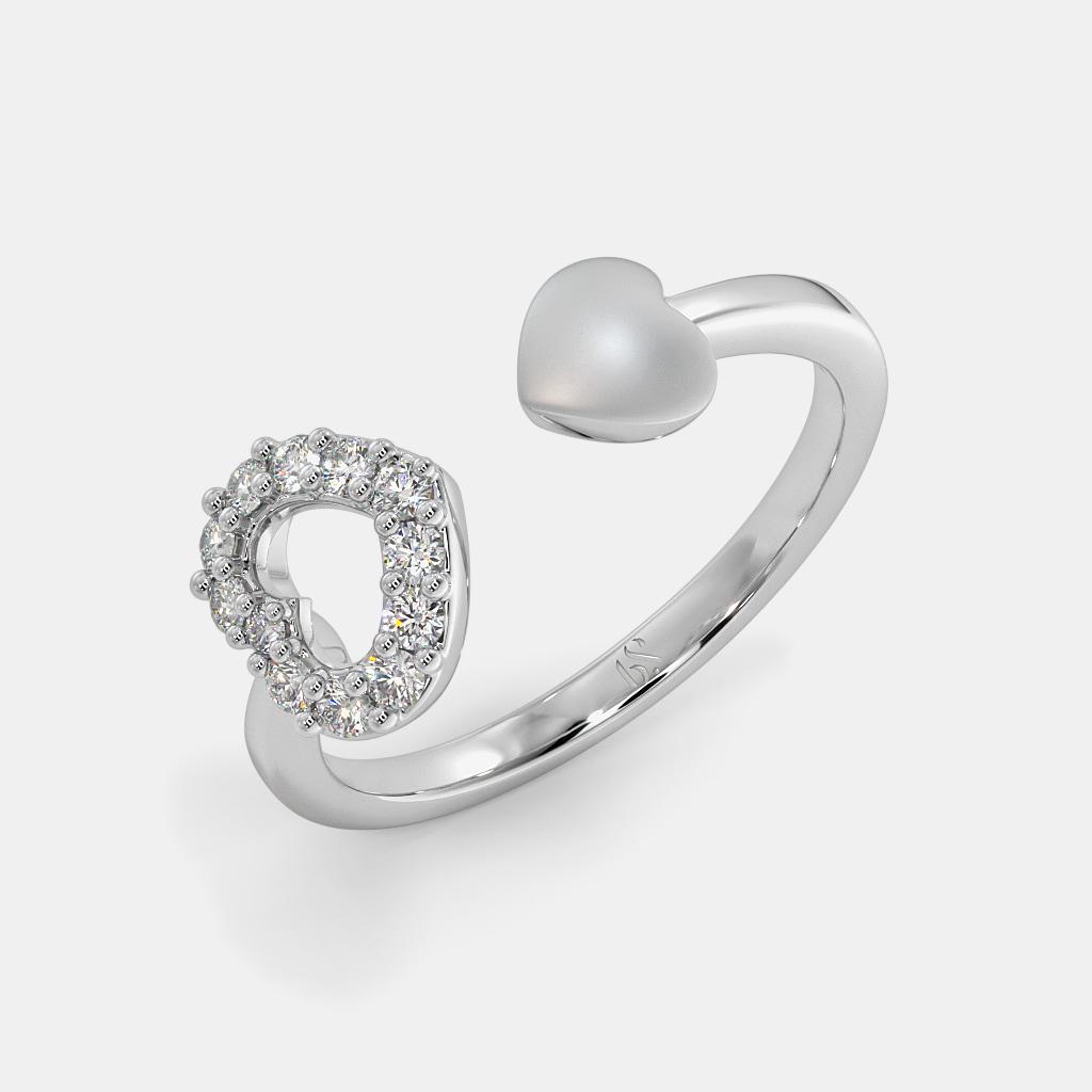 The Jovita Heart Top Open Ring