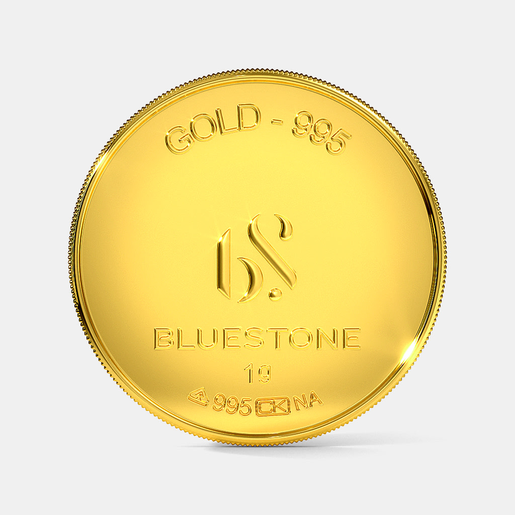 1 Gram 24 Kt Gold Coin Bluestone
