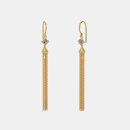 The Plume Tassel Earrings
