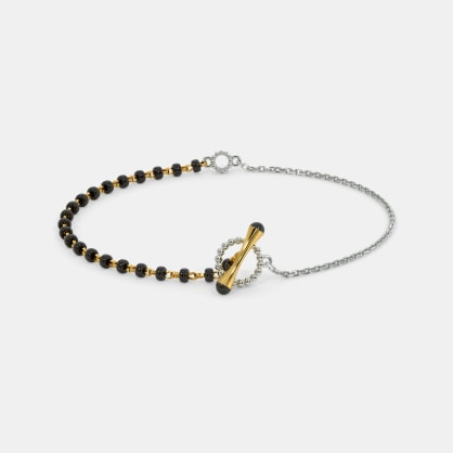 The Toggle lock Mangalsutra Bracelet