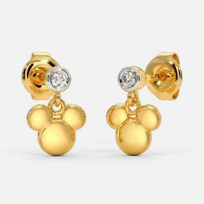 The Dazlle Mickey Drop Earrings For Kids
