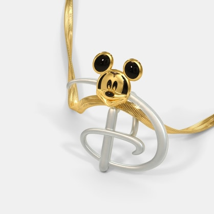 The D For Disney Mickey Pendant For Kids