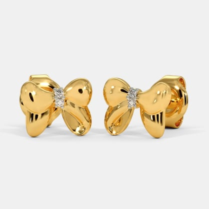 The Mickey Bow Stud Earrings For Kids