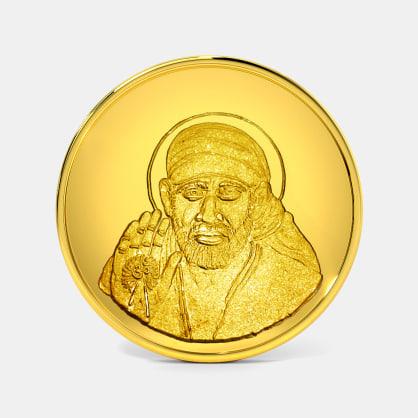 1 gram 24 KT Saibaba Gold Coin