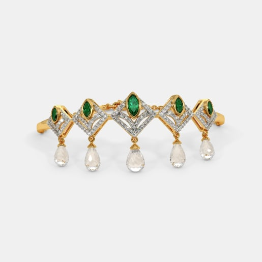 Emerald Bangles - Buy Emerald Bangle Designs Online in India