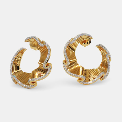 The Samba Orange peel Hoop Earrings