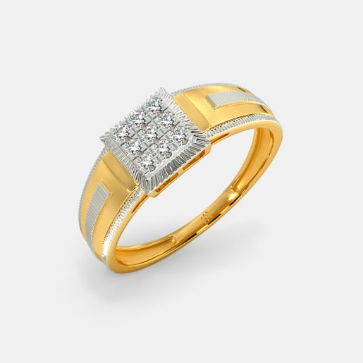 96f36995c2741 Buy 200+ Men's Gold Ring Designs Online in India 2019 | BlueStone.com