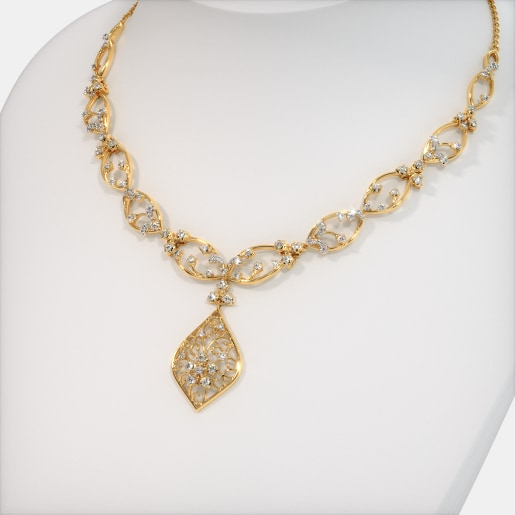 Gold Necklaces Buy 200 Gold Necklace Designs Online In India 2019