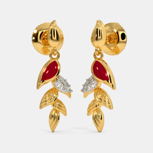 The Heliconia Pendula Drop Earrings