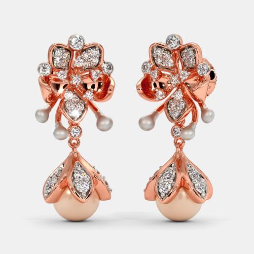 The Pink Petalo Drop Earrings