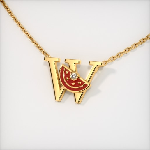 The W for Watermelon Necklace for Kids