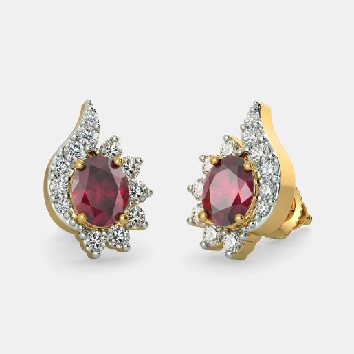 5f3356611b8 Ruby Earrings - Buy 200+ Ruby Earring Designs Online in India 2019 ...