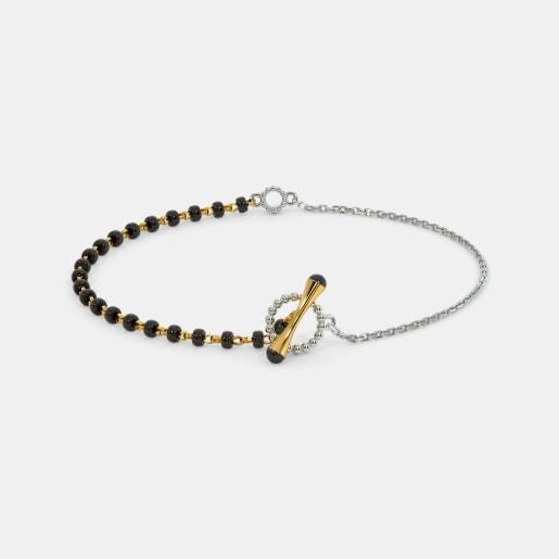 The Toggle lock Mangalsutra Bracelet