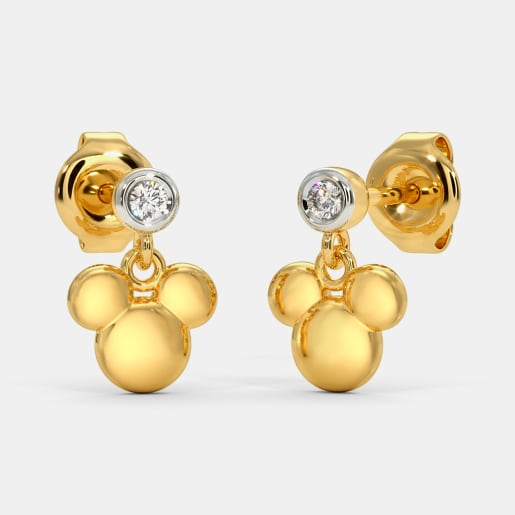 The Dazlle Mickey Drop Earrings For Kids