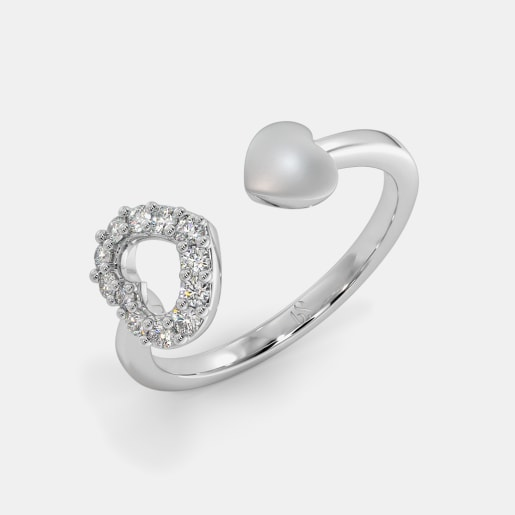 The Jovita Heart Top Open Ring